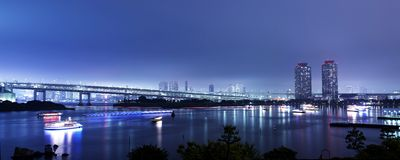 De Baaipanorama van Tokyo royalty-vrije stock afbeelding