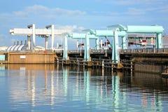 De baaiversperring van Cardiff stock fotografie