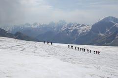 De baan van de alpinist Royalty-vrije Stock Afbeeldingen