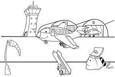 De Baan van de luchthaven stock illustratie