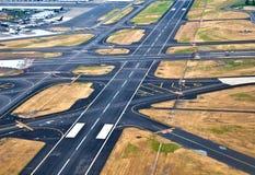De baan van de luchthaven