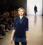 De Baan van Zang Toi FW19 toont als deel van daar New York Fashion Week royalty-vrije stock fotografie