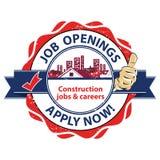 De baanopeningen - de banen en de carrières van Bouwbanen - zijn nu van toepassing! Baan reclame/Baanaanbieding royalty-vrije illustratie