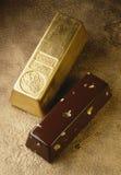 De baar-vormige cake van het chocoladelogboek Royalty-vrije Stock Foto