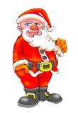 De baard van Kerstmis clauss Stock Foto's
