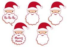 De baardframes van de kerstman royalty-vrije illustratie