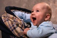 De baby in een vervoer stock foto