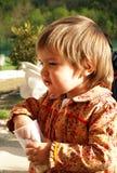 De baby eet Royalty-vrije Stock Afbeelding