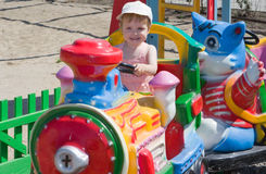 De baby heeft een goede tijd Royalty-vrije Stock Fotografie