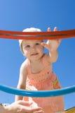 De baby heeft een goede tijd Royalty-vrije Stock Afbeeldingen
