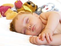 De baby-jongen van de slaap royalty-vrije stock fotografie