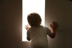 De baby kijkt Royalty-vrije Stock Fotografie