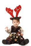 De baby kleedde zich als hert Royalty-vrije Stock Afbeelding
