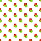De baby kubeert patroon, beeldverhaalstijl Stock Fotografie