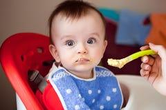 De baby is niet hongerig Royalty-vrije Stock Fotografie