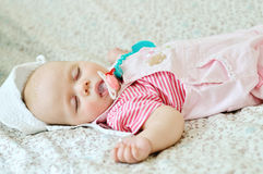 De baby slaapt Royalty-vrije Stock Foto