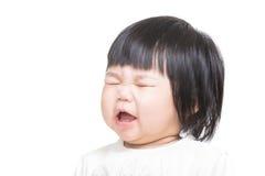 De baby van Azië wordt boos royalty-vrije stock foto's
