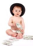 De baby van Bisness Royalty-vrije Stock Afbeeldingen