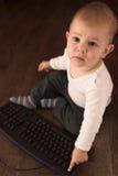 De baby van de computer royalty-vrije stock fotografie