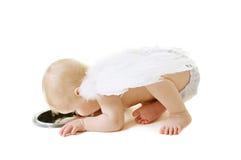 De baby van de engel Stock Afbeeldingen