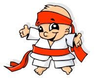 De baby van de karate royalty-vrije illustratie