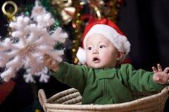 De baby van de kerstman royalty-vrije stock fotografie
