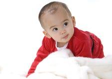 De baby van de kerstman Royalty-vrije Stock Foto's