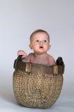 De Baby van de mand Royalty-vrije Stock Afbeelding