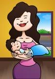 De baby van de moedergreep Royalty-vrije Stock Fotografie