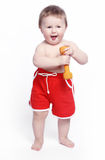 De baby van de pretglimlach Royalty-vrije Stock Foto's