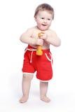 De baby van de pretglimlach Royalty-vrije Stock Afbeelding