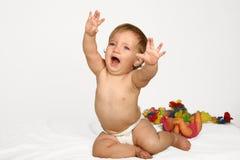 De Baby van de schreeuw Stock Foto
