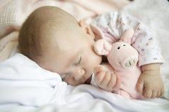 De baby van de slaap Stock Fotografie