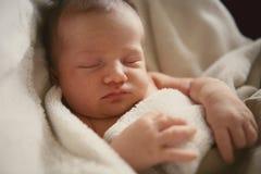 De baby van de slaap stock foto's