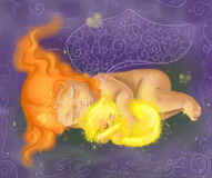 De baby van de slaap Stock Afbeelding