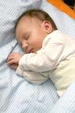 De baby van de slaap stock foto