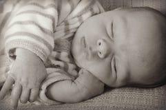 De Baby van de slaap royalty-vrije stock afbeeldingen