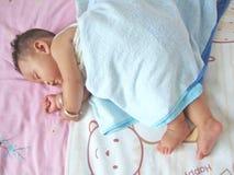 De Baby van de slaap royalty-vrije stock foto