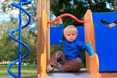 De baby van de speelplaats Stock Foto's