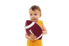 De Baby van de voetbal stock foto