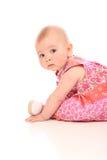 De baby van de zitting stock foto