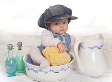 De baby van het bad Stock Afbeelding
