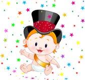 De baby van het nieuwjaar Royalty-vrije Stock Afbeeldingen