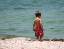 De Baby van het strand stock afbeelding