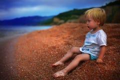 De baby van het strand Stock Afbeeldingen