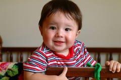 De Baby van kinderen in Voederbak Royalty-vrije Stock Foto's