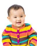 De baby voelt gelukkig royalty-vrije stock afbeelding
