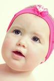 De babygezicht van de close-up Stock Afbeeldingen