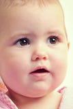 De babygezicht van de close-up Stock Foto's