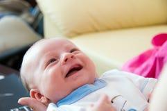 De babyglimlach van zes weken royalty-vrije stock foto's